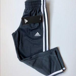 Adidas Boys Grey Sport Pants-Size 4 /NWT